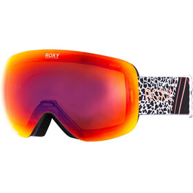 Roxy Rosewood Pop Snowboard Goggles Women, true black pop flowers